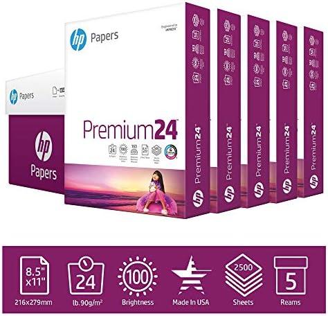 Hp LaserJet Paper Ultra White 97 Bright 24lb Letter 2500 Sheets//Carton 115300