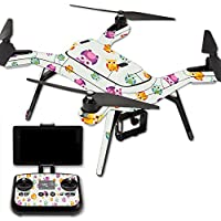 MightySkins Protective Vinyl Skin Decal for 3DR Solo Drone Quadcopter wrap cover sticker skins Owls