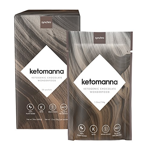 Synchro Keto Manna | Ketogenic Chocolate Fudge | 12g MCTs | Perfect Keto Nutrition On-The-Go | Low Carb Snack (1.2oz Packets, Box of 20) by Synchro