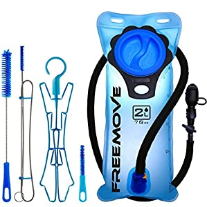 2L Hydration Pack Water Bladder & Cleaning Kit | YOUR BEST CHOICE TO STAY HYDRATED | Heavy Duty & Leak Proof Water Reservoir | Tasteless & BPA Free TPU Material | Quick Release Tube & Shutoff Valve