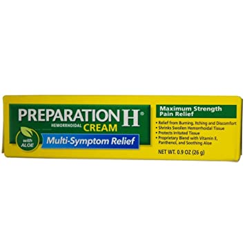 Amazon Com Preparation H Cream 0 90 Oz Hemorrhoid Pain Relief