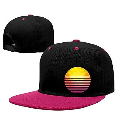 Adult Retro Eighties Symbol Sun Hip Hop Flatbrim Snapback Hats Adjustable Baseball Caps for Women