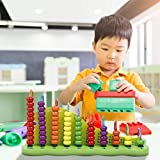 Portable Plastic Abacus Arithmetic Tool, 1 + 1 Multiplication Table Calculation Framework Early Education Wooden Arithmetic Station Baby Children Learning Arithmetic Abacus