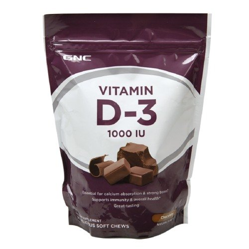 Soft Chews Chocolate (GNC Vitamin D-3 1000IU Soft Chews, Chocolate-60)