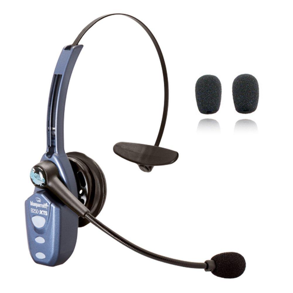 VXi Blueparrott B250-XTS Bluetooth Headset Bundle -203890 | Bonus Microphone Cushions | NFC Enabled | Windows PC and MAC Compatible - (B250-XTS w/Bonus Cushions) by VXi