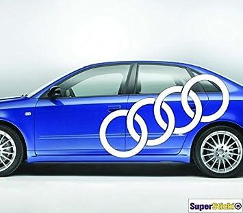 2 Mal Xxx Audi Ringe 150 Cm Aufkleber Autoaufkleber Tuningaufkleber