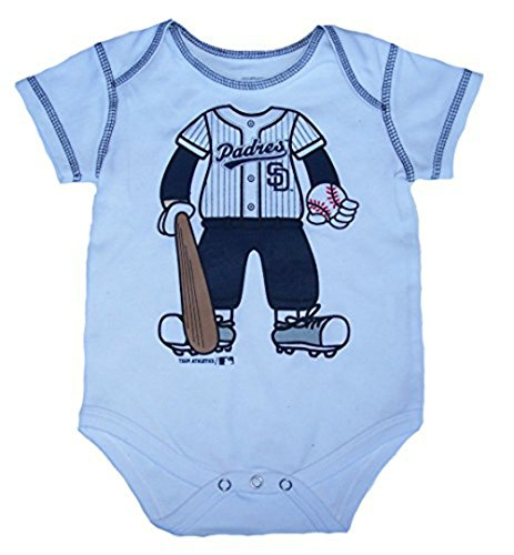 San Diego Padres Player In Uniform Infant Onesie Size 6 - 9 Month Bodysuit - White Creeper