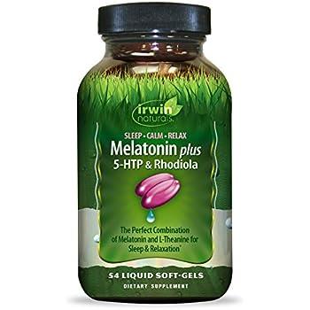Irwin Naturals Melatonin Plus 5 HTP & Rhodiola, 54 Count