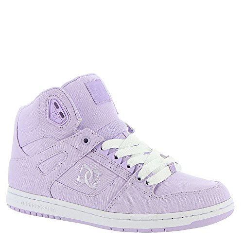 DC Women's Pure High-Top TX Skate Shoe, Lilac, 9.5 B US by DC