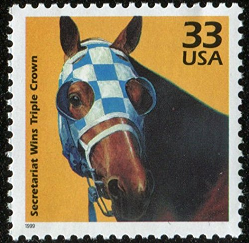 Horse Postage - Secretariat - Horse Racing US Postage Stamp (This is a hard to find stamp!) #3189g
