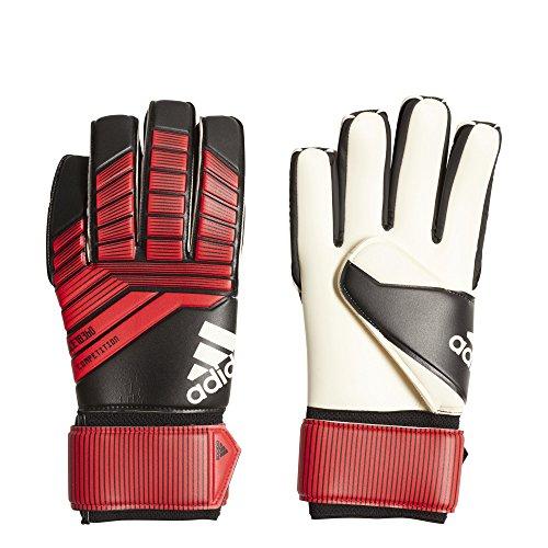 Gloves Athletic Adidas (adidas F1806GL016 Predator Soccer Gloves, Black/Red/White, Size 9)
