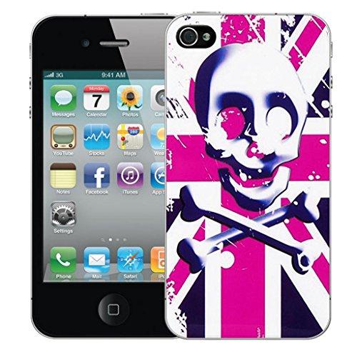 Mobile Case Mate iphone 5s Dur Coque couverture case cover Pare-chocs - pink skull flag Motif avec Stylet