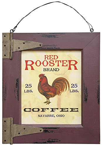Rooster Wall Plaque - Ohio Wholesale Red Rooster Coffee Plaque Wall Art, from our Store Collection