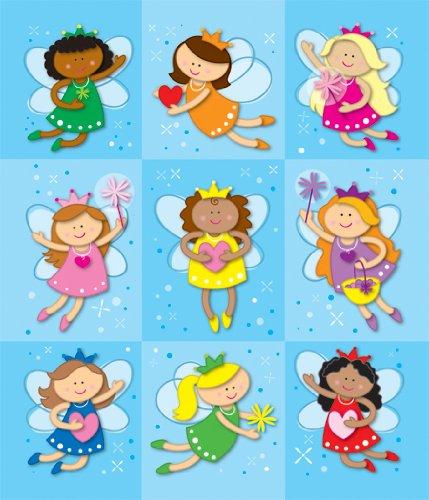 Fairies Glitter Sticker Sheets - Carson Dellosa Fairies Prize Pack Stickers (168043)