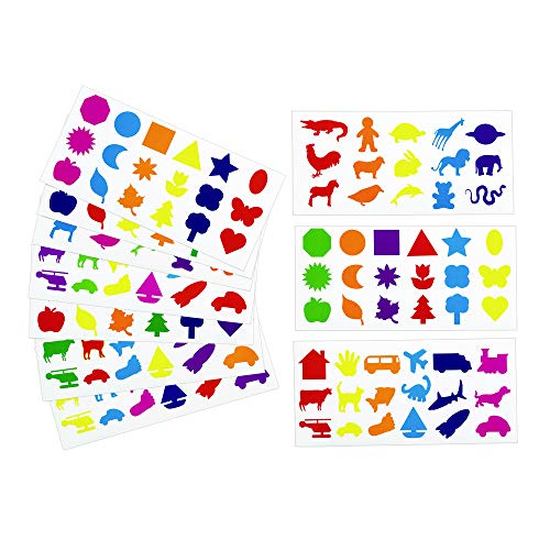 (Colorations Joyful Familiar Shapes Stickers (Pack of)