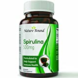 Nature Bound Natural Spirulina Extract Blue-Green Algae Weight Loss & Immune Support Dietary Supplement (90 Capsules)