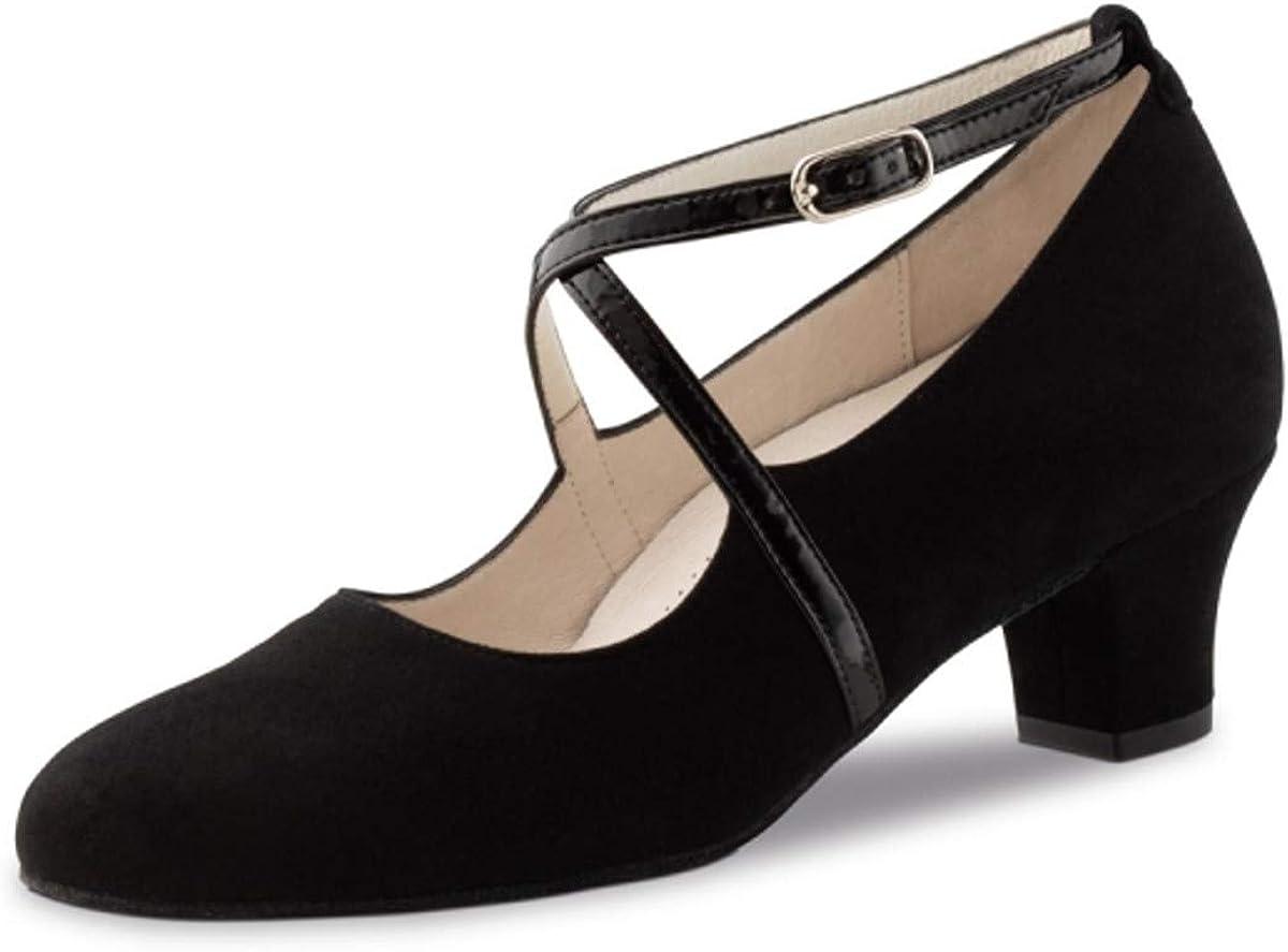 4,5 cm Werner Kern Femmes Chaussures de Danse Tabea Su/éde Noir