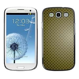 TopCaseStore / la caja del caucho duro de la cubierta de protección de la piel - Simple Pattern 9 - Samsung Galaxy S3 I9300