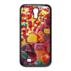 3D Okaycosama Funny Samsung Galaxy S4 Case Candy Food Cheap for Girls, Case for Samsung Galaxy S4 for Men, [Black]