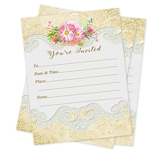 - Anniversary Invitations Birthday Luncheon Baby Shower Party Wedding Invitation 20 count with envelopes