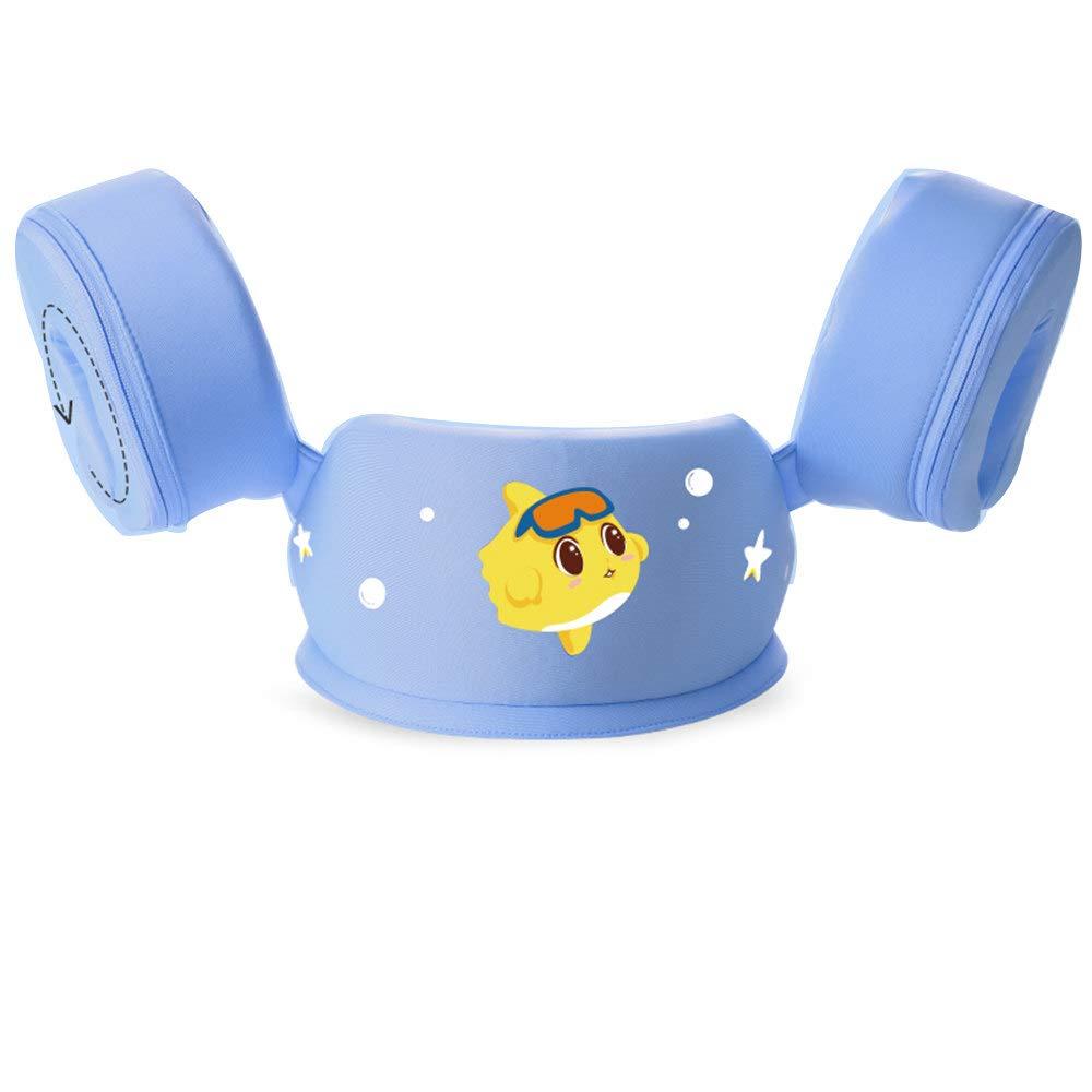 LXMBox Kinder Schwimmen Float Trainer Ring Kind Arm Kreis, frei aufblasbar, verhindern Überschlag, einstellbar, Pool Spielzeug für 3-6 Jahre alt lila