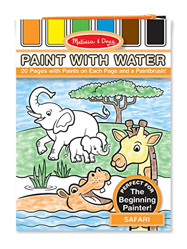 Melissa & Doug Paint With Water Activity Book - Safari (20 Pages)