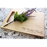 Housewarming Personalized Cutting Board - Engraved Cutting Board, Custom Cutting Board, Wedding Gift, Real Estate Closing, Anniversary, Engagement W-070GB