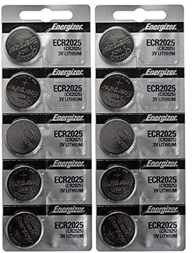 [ Pack of 10 ] Energizer Cr2025 3v Lithium Coin Cell Battery Dl2025 Ecr2025 CR 2025