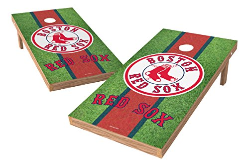 """MLB Boston Red Sox Field XL Shield Tailgate Toss Game, 24"""" x 48"""", Multicolor"""