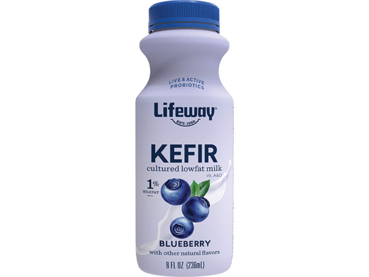 Lifeway Probiotic Low Fat Blueberry Kefir, 8 Ounce -- 6 per case.