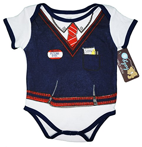 Mon Cheri Baby The Future Executive Funny Baby Boy Girl Unisex One Piece Infant Funny Bodysuits
