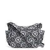 Vera Bradley Iconic On The Go Crossbody, Signature Cotton, Charcoal Medallion