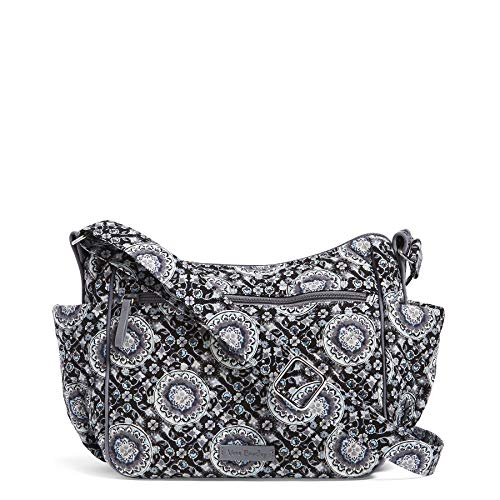 Vera Bradley Iconic On The Go Crossbody, Signature Cotton, Charcoal Medall