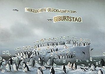 Postkarte A6 5502 Geburtstag Pinguine Von Inkognito