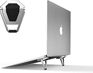 Portable Invisible Laptop Stand-2PCS,SUNTAIHO Mini Aluminum Cooling Computer Keyboard Mount Kickstand,Ergonomic Lightweight Laptop Desk Stand for MacBook Pro/Air, Lenovo,12-17 Inches Tablet&Laptop