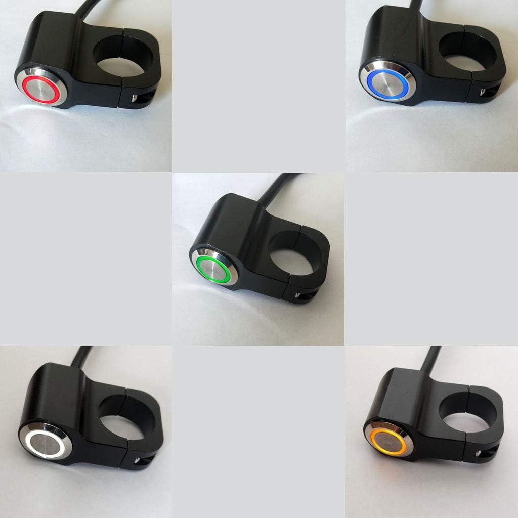 Almencla 25mm Durable Motorrad Schalter Nebelscheinwerfer EIN-// Ausschalter Kippschalter LED DIY Lenkschalter Hupe Warnblinker Schalter rot
