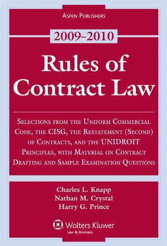 Rules of Contract Law 2009 Statutory Supplement