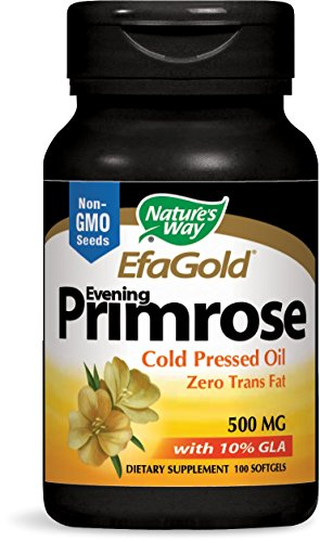 Nature's Way EFA Gold Evening Primrose Cold Pressed 500mg, 100 Softgels ()