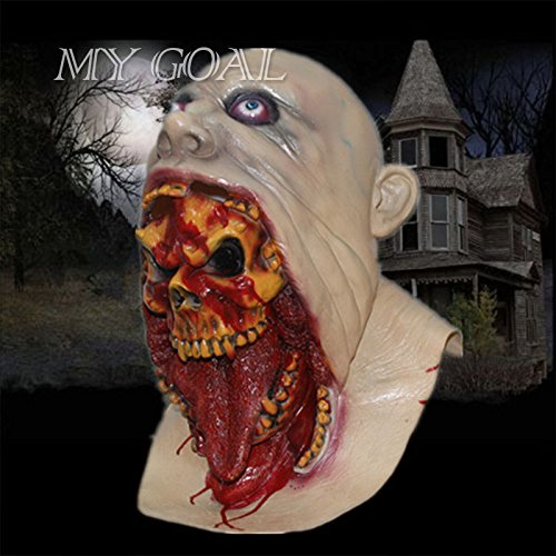 Halloween Scary Zombie Bloody Bleed Face Adult Latex Mask Melting Walking Dead