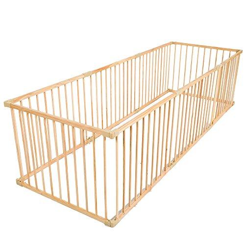 Tectake recinto grande per cuccioli esterno recinto per cani gatti cuccioli in legno 8 elementi - Recinto mobile per cani ...