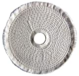 Buffing Wheel, Spiral Sewn, 6 In Dia. - pack of 5