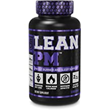 LEAN PM Night Time Fat Burner, Sleep Aid Supplement, Appetite Suppressant for Men and Women - 60 Stimulant-Free Veggie Weight Loss Diet Pills