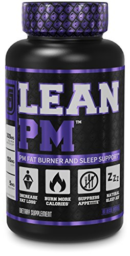 LEAN PM Night Time Fat Burner, Sleep Aid Supplement, & Appetite Suppressant for Men and Women – 60 Stimulant-Free Veggie Weight Loss Diet Pills
