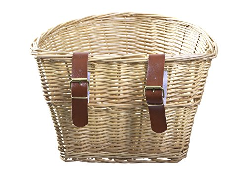 ProSource Wicker Front Handlebar Bike Basket Cargo by ProSource (Image #2)
