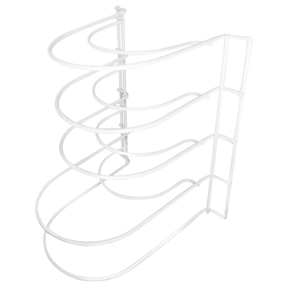 Evelots Organizador de metal para organizar sartenes, 5 estantes: Amazon.es: Hogar