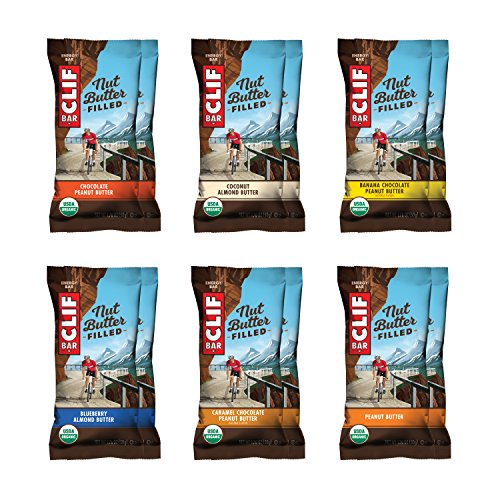 CLIF Nut Butter Filled - Organic Energy Bar - Variety Pack - (1.76 Ounce Protein Snack Bar, 12 Count) ()