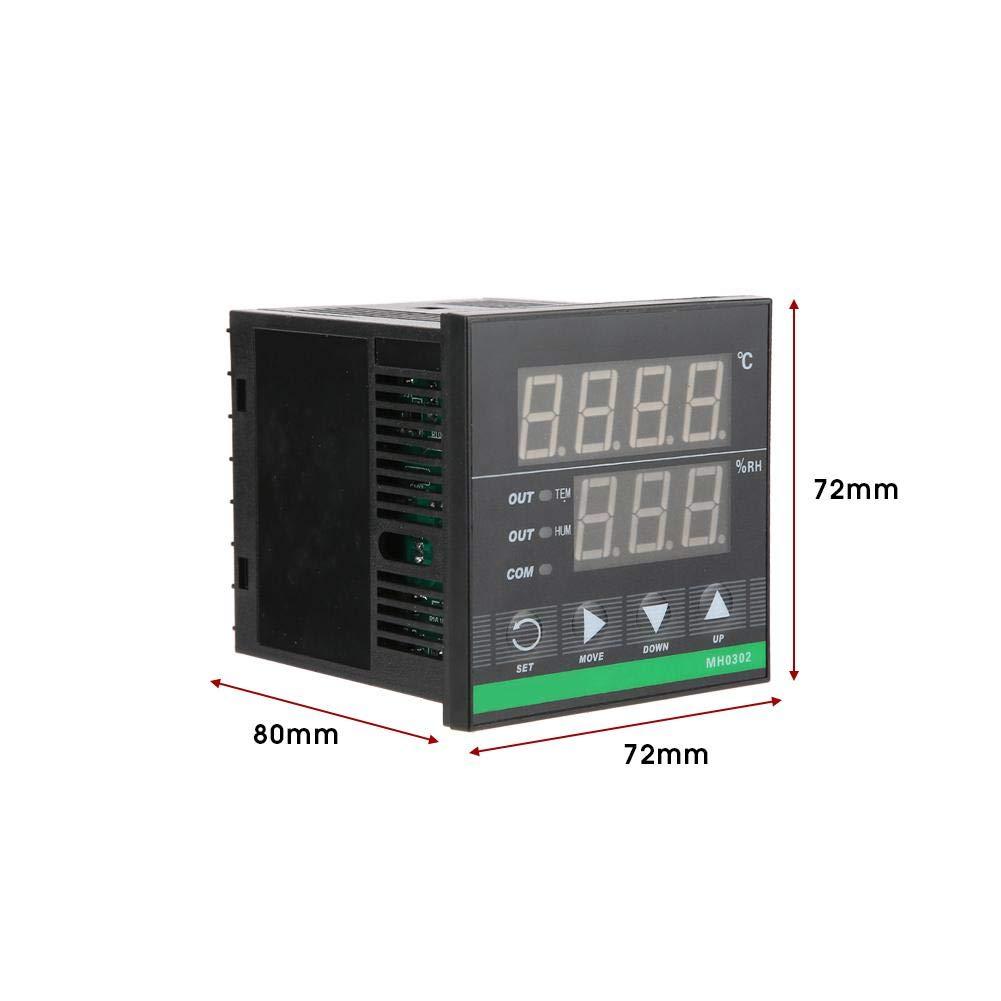 MH0302 Schalttafelmontage Digitales Temperatur und Luftfeuchtigkeitsregler-Sensorkabel 72 Temperatur-Feuchtesensor 72mm und Luftfeuchtigkeitsregler Temperatur