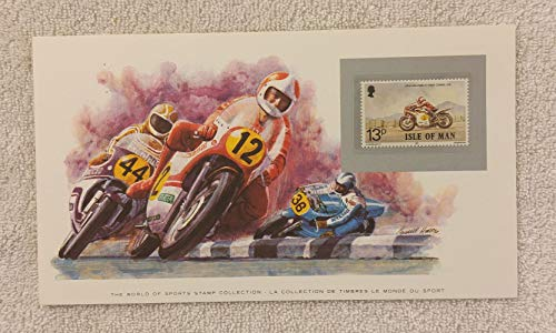 Motorcycle Racing - The World of Sports - Postage Stamp & Commemorative Art Panel - Franklin Mint (1982) - Isle of Man ()