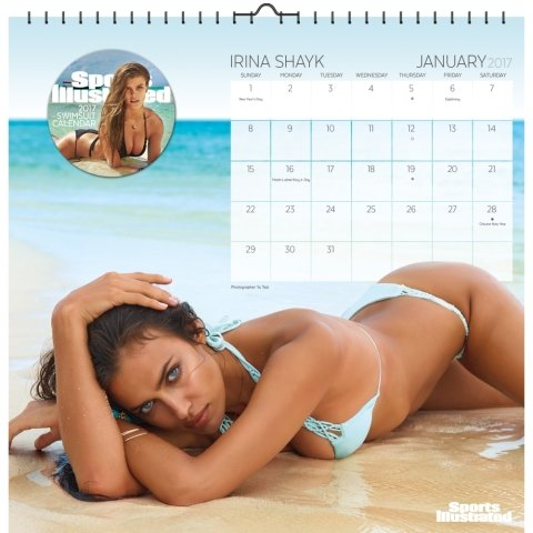 Sports Illustrated Swimsuit Calendar 2017 -- Deluxe Sports Illustrated Swimsuit Art Wall Calendar (12x12)