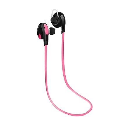 Moushen Auriculares inalámbricos Bluetooth Auricular para Samsung Xiaomi Deporte Bluetooth 4.0 Auriculares-Rosa